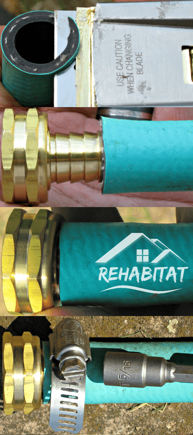 Repair a Garden Hose: Cut, Fit, Press, Tighten | rehabitathome.com