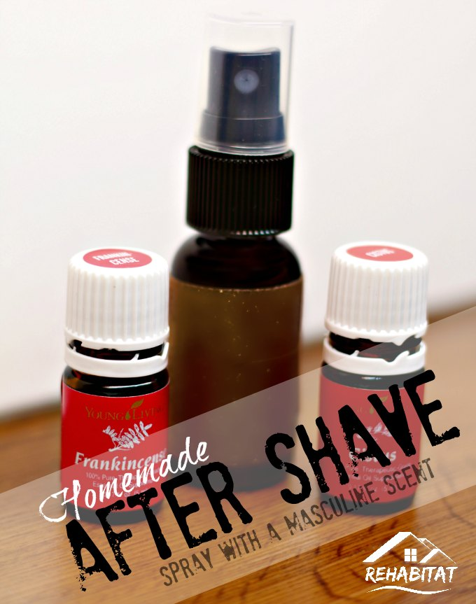 How to make homemade spray aftershave with a masculine scent - great gift idea!