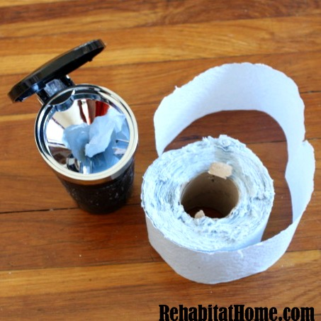 DIY cupholder wipes