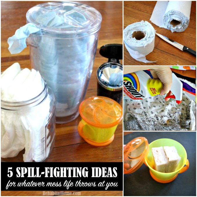 Stain and Spill fighting ideas for the worst messes as a parent both on the go and at home