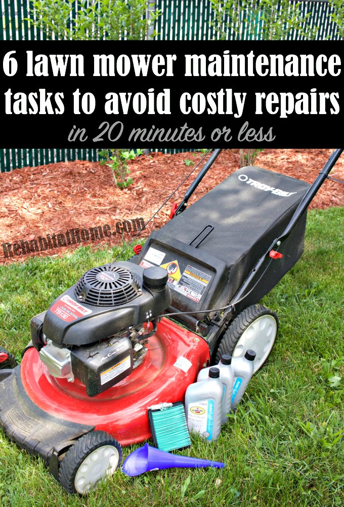 lawn mower maintenance to do each spring