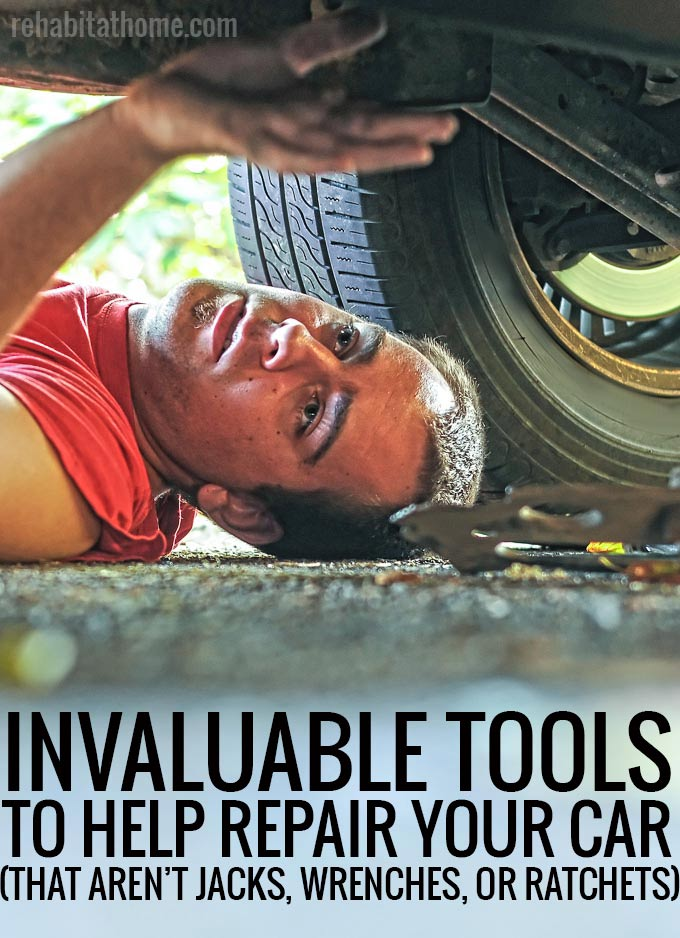Important tools and equipment for car repair to have in your garage. And no, they're not your typical mechanic tools like jacks, wrenches, or ratchets.