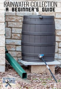 A beginner's guide to rainwater collection and how to begin a rain water harvest. #sustainableliving #rainwater #gardening